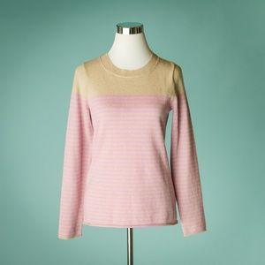 J Crew Collection M Cashmere Stripe Sweater